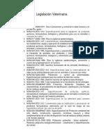 Legislación Veterinaria LISTADO