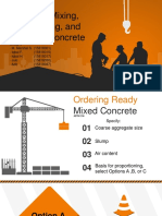Batching, Mixing, Transporting, Curing Concrete
