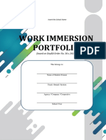 Work Immersion Portfolio Based on Deped