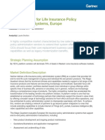 Gartner - Magic Quadrant for Life Insurance Policy Administration Systems, Europe