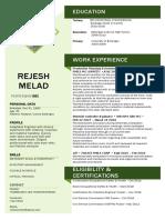 Resume Updated Rejesh Melad(1)