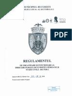 Regulamentul de Organizare Şi Funcţionare Al Direcţiei Publice de Evidență Persoane Și Stare Civilă Sector 2 - 26.10.2018