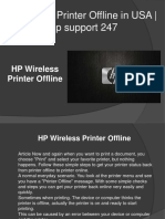 Fix for HP Wireless Printer Offline | Hp support 247