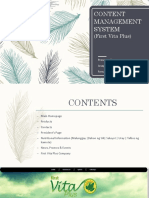 Content Management System and Point of Sale (PPT)