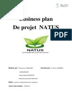 Business Plan de Projet NATUS