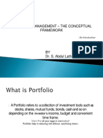 Introduction to portfolio management