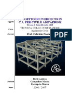 Ingegneria Civile - Tecnica Delle Costruzioni - Progetto Di Un Edificio in CA Relazione e Tavole - UniRomaTre - Matsoftware.it