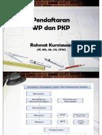 Pendaftaran WP Dan PKP - Revisi