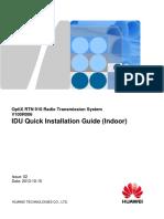 RTN 910 V100R006 IDU Quick Installation Guide (Indoor) 02