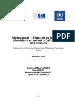 Madagascar – Situation de la sécurité alimentaire en milieu urbain