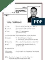Pro. Pastor v. Lalmuanpuia Vuina Programme