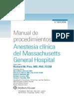 manual de procedimientos anestesia clínica