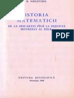 Istoria Matematicii De La Descartes Până În Secolul Al XIX-lea