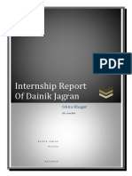 Dainik Jagran Report by Ishita