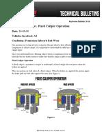 Floating Caliper vs Fixed Caliper Operation