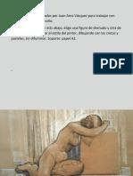 Ejercicios Partiendo de Dibujos de Juan Amo Vázquez Para Cretas, Pasteles y Tinta