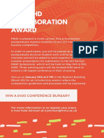 MA - PHD Award Flyer