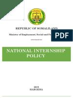 Somaliland National Internship Policy Approved