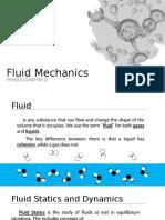 Fluid Mechanics (Physics Chapter 12) Powerpoint