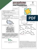 Apostila de Relações Trigonométricas (6 Páginas, 31 Questões)