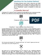 Denominações e Nomenclaturas de Kung Fu
