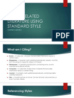 Chapter 4.2 - Review of Related Literature Using Standard Style
