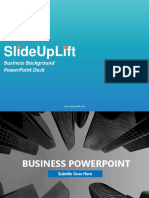 Business Background PowerPoint  Deck