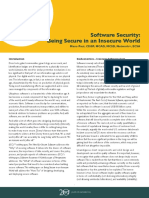 CSSLP WP3_Software Security Being Secure in an Insecure World