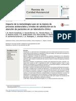 Impacto   de   la   metodología   Lean   en   la   mejora   de procesos   asistenciales   y   niveles   de   satisfacción   en   la atención   de   pacientes   en   un   laboratorio   clínico