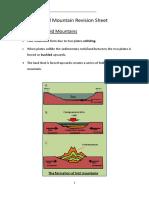 fold mountain revision sheet