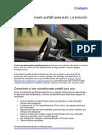 Aire acondicionado portátil para auto
