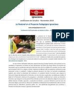 CVPI, 2019, Octubre-Noviembre -La Pastoral en El Proyecto Pedagógico Ignaciano