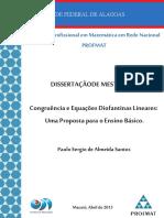 Congruência e Equações Diofantinas_ Uma Proposta Para o Ensino Básico -Ângela