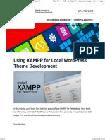 Using XAMPP for Local WordPress Theme Development