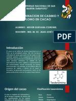 Determinacion de Cadmio y Plomo en Cacao