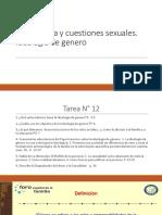 12° CLASE. VII. Bioética y cuestiones sexuales. Ideología de genero