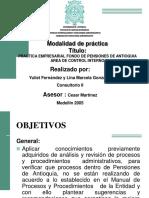 Practica Empresarial Fondo de Pensiones de Antioquia Area de Control Interno - Presentación