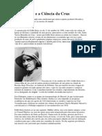 Edith Stein e a Ciência Da Cruz
