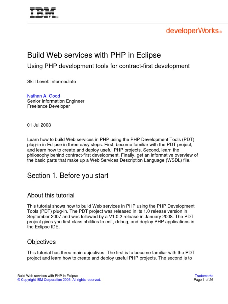 Os Php Web Service Eclipse PDF   Eclipse (Software)   Php