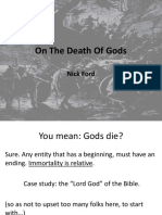 On the Death of Gods