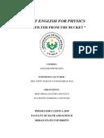 PROJECT (mata kuliah ENGLISH FOR PHYSICS)