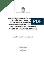 Análisis de a Través Del Tiempo de Las Tormentas Extremas en BogotáV4.1