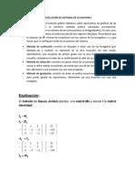 Adelanto Semana 3 Resolución de Sistemas de Ecuaciones