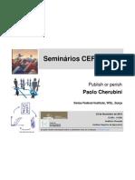 Seminário  de Paolo Cherubini