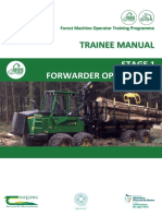 FMO Training Programme Manual - Stage 1 - Forwarder