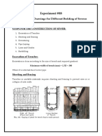 Preparation of Drawings for Different Bedding of Sewers