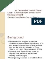 Consumer Demand of the Fair Trade Label.v3