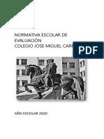 reglamento evaluación 2020