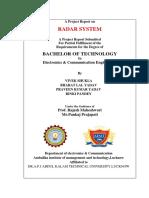 Ultrasonic RADAR