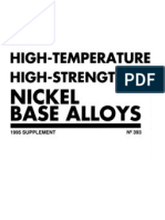High Strength High Temperature Nickel Base Alloys